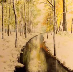Autumn snow by Nayraelin