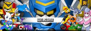 Robot Cartoon Character Web Banner
