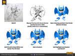 Robot Cartoon Character Tutorial Sketch to Vector
