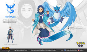 Leader of Team Mystic with Articuno by RIDJAM