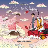 Via and Rizky Wedding Invitation Card by RIDJAM