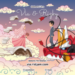 Via and Rizky Wedding Invitation Card