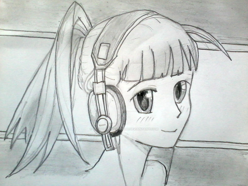 Manga Girl With Headphones By ButterflyDragon99 On DeviantArt