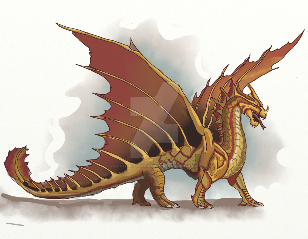 Brass dragon by butterflydragon99 on deviantart for Gimnasio 5 dragones