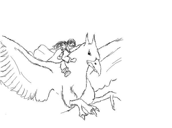 coloring pages buckbeak - photo#9