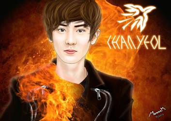 EXO - CHANYEOL (Wallpaper) by Mom2maM