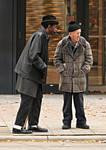 Men at Bus Stop
