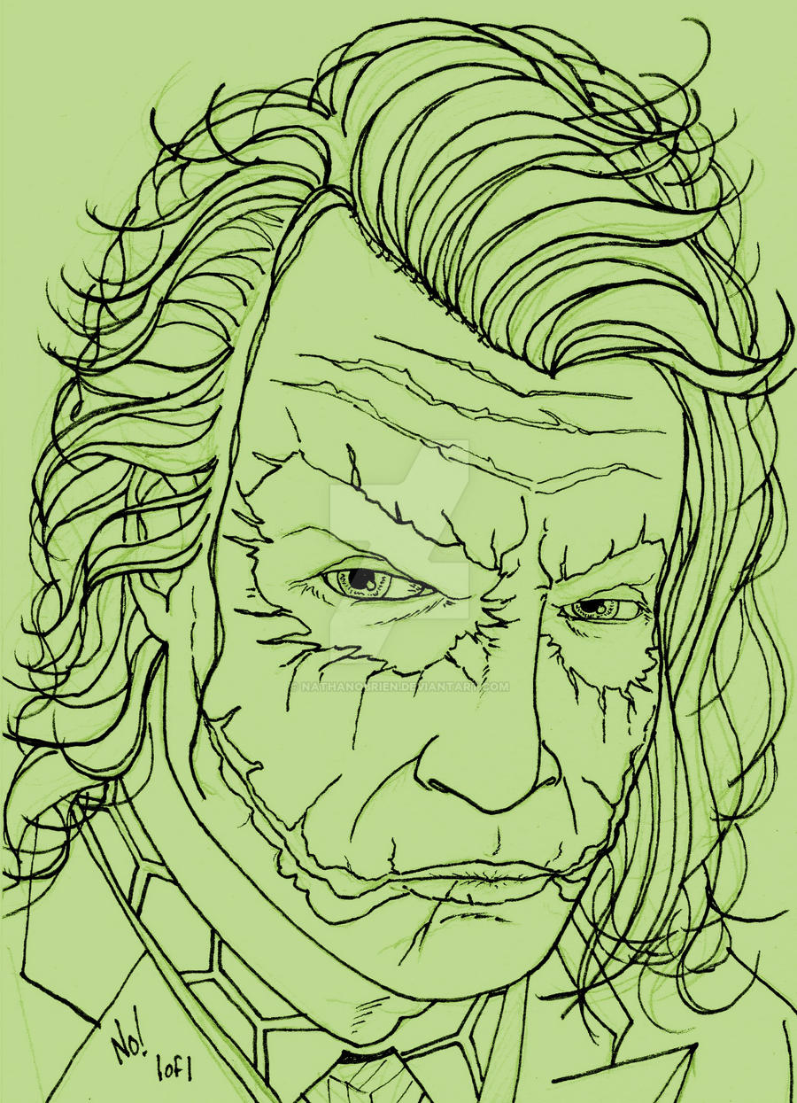 Line Art Joker : Joker line art by nathanobrien on deviantart