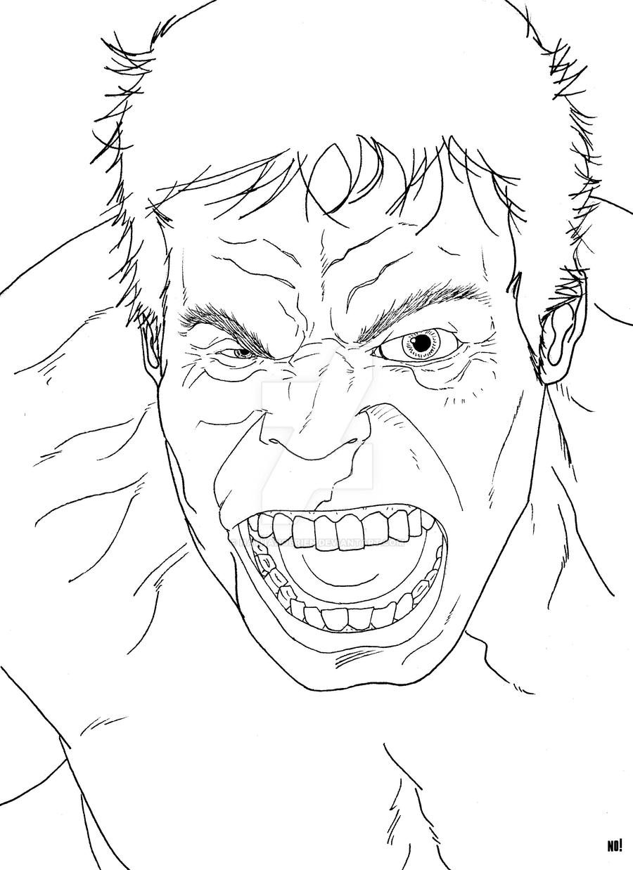 The Incredible Hulk line art by nathanobrien on DeviantArt