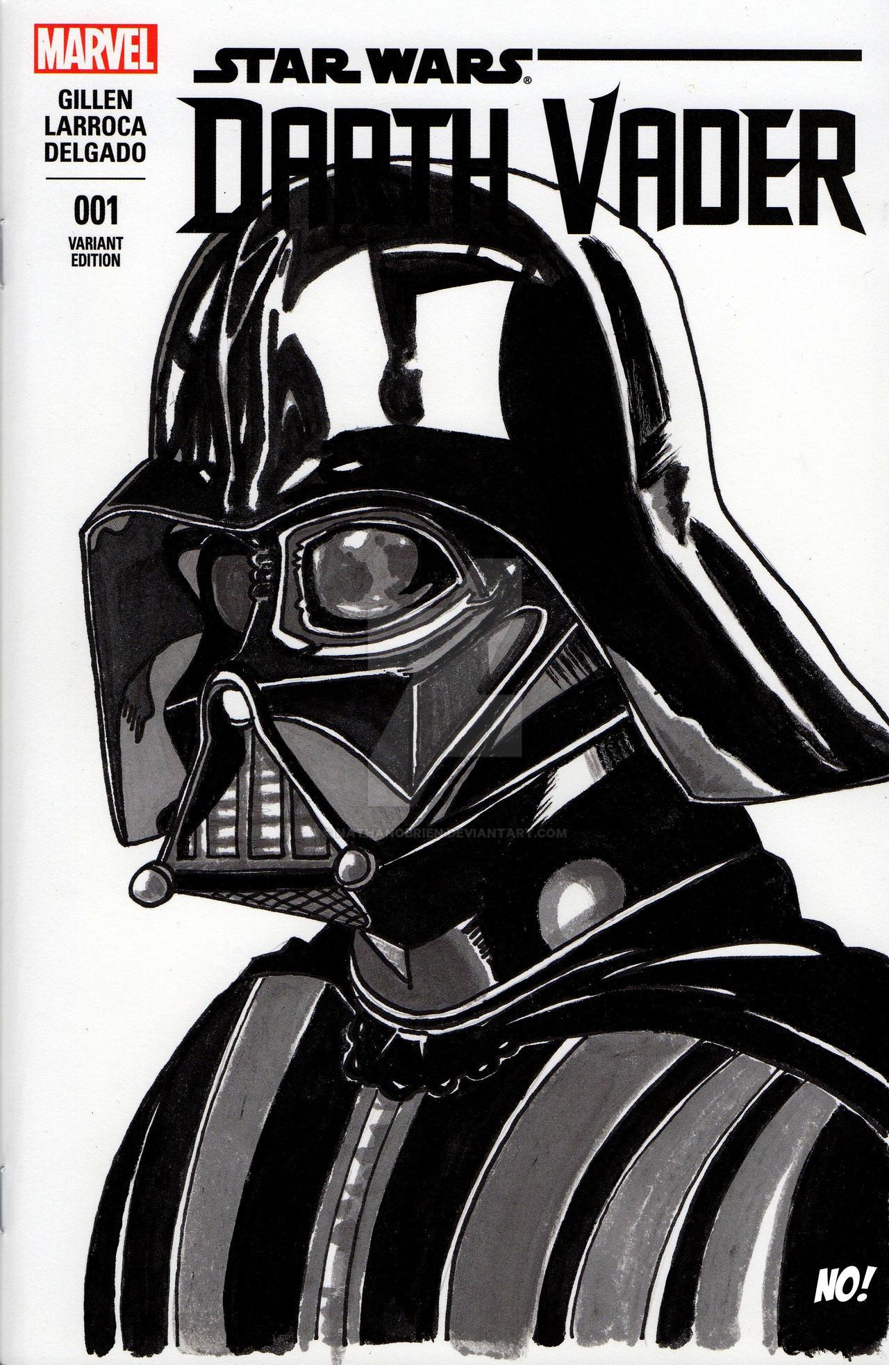 Darth Vader sketch cover by nathanobrien on DeviantArt