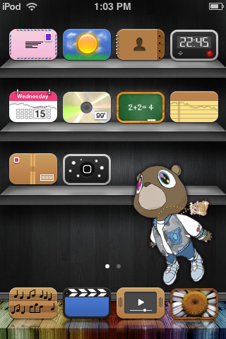 kanye ipod touch.. by Hoodchips