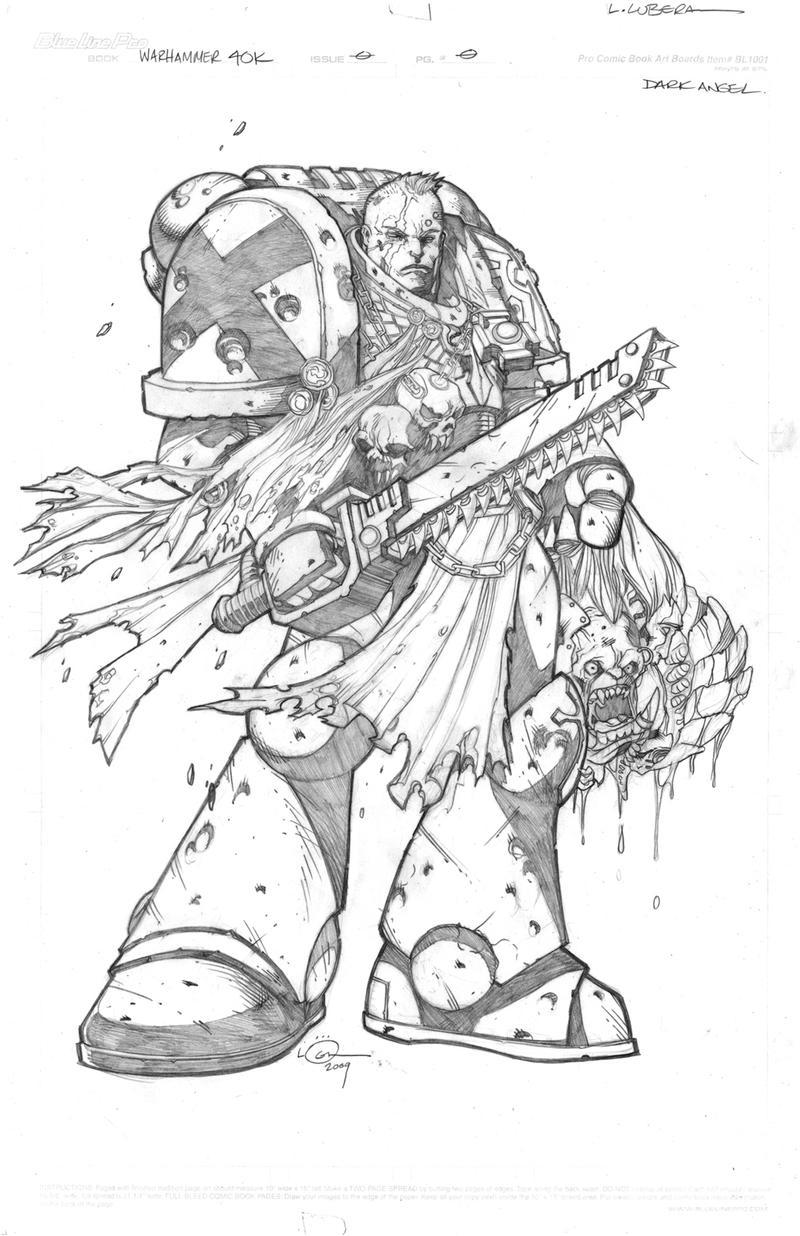 Warhammer40k dark angel by loganlee on deviantart for Dark angel coloring pages