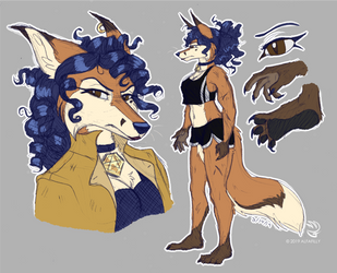 Carmelita Redesign Doodles by AlfaFilly