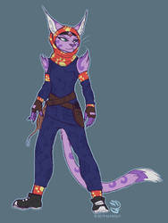 Sly Cooper Redesigns: Neyla by AlfaFilly