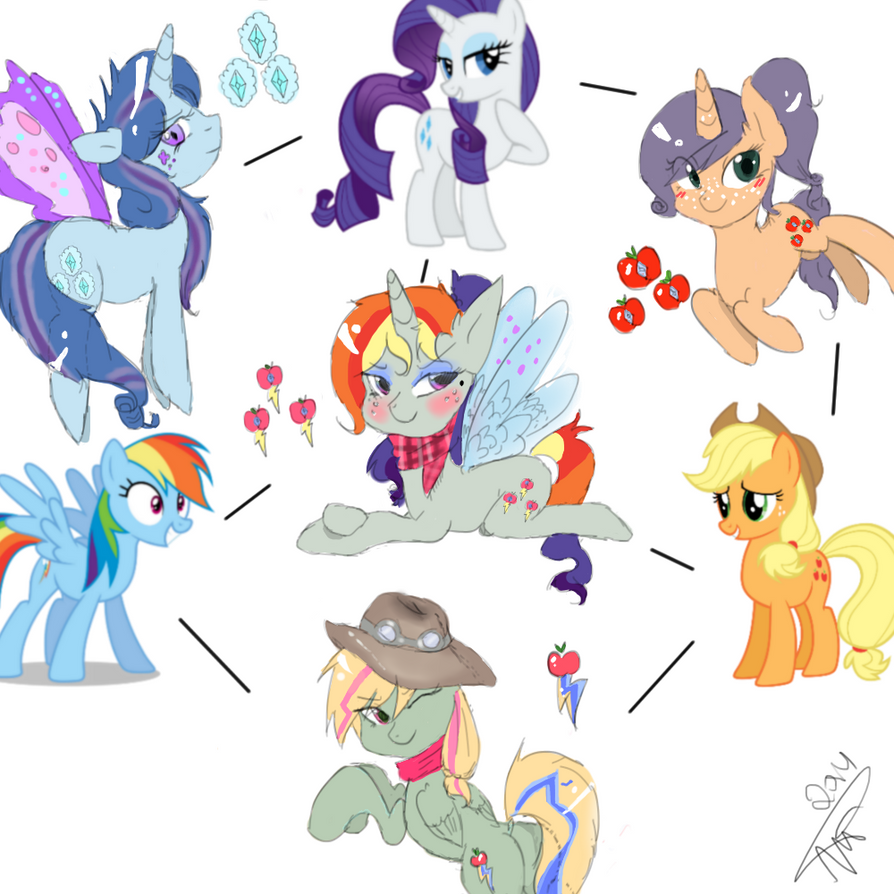 Rarity Applejack Rainbowdash By Mrscurlystyles On Deviantart