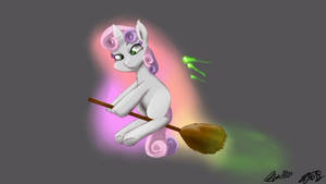 Sweetie belle collab by MrsCurlyStyles