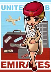 emirates female cabin crew