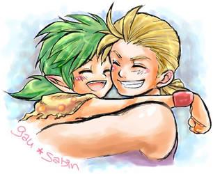 Gau and Sabin hugs by nekki