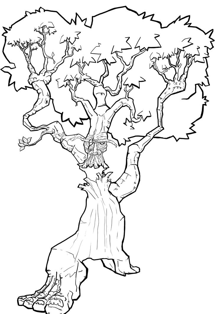 Line Art Of Trees : Tree line drawing by wes d on deviantart