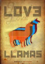Just love llamas by Morday