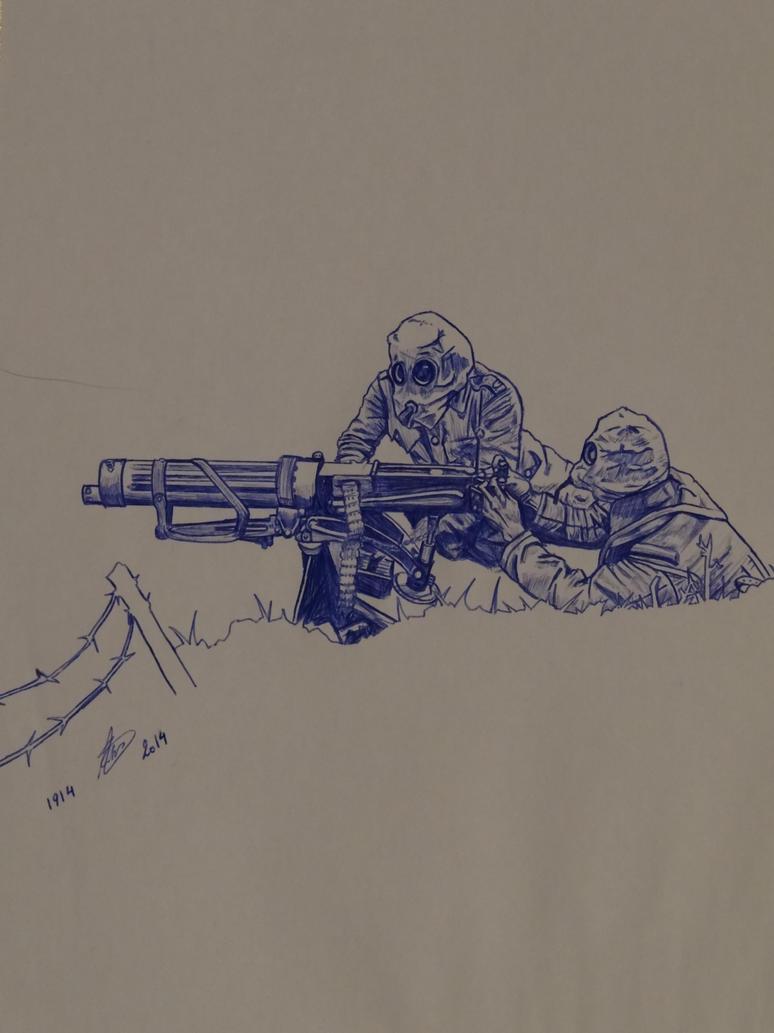 Vickers Machine Gun Crew ~ WW1 by Wolfang11