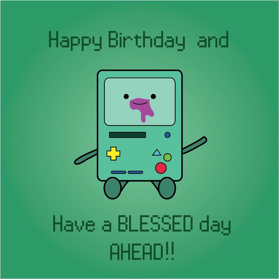 Beemo Birthday Card by TamamoMae