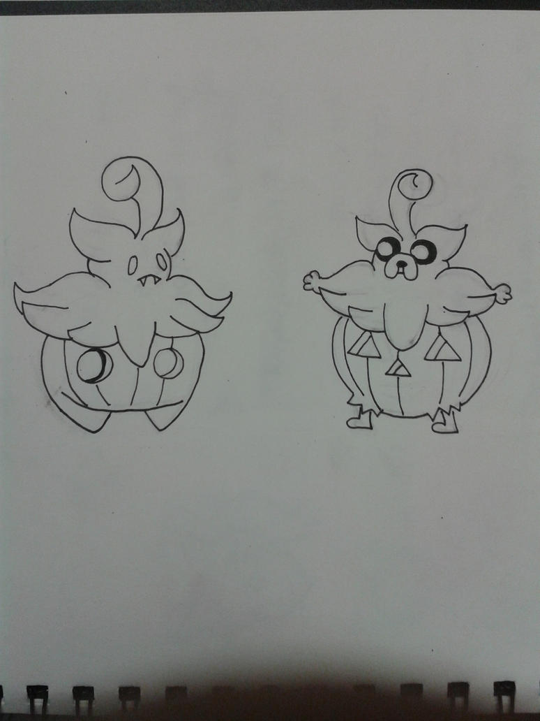 Pumpkaboo and Jake (Halloween WIP) by TamamoMae