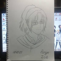 Hange Zoe (lineart) by TamamoMae