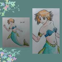 Mermaid Petra fanart by TamamoMae
