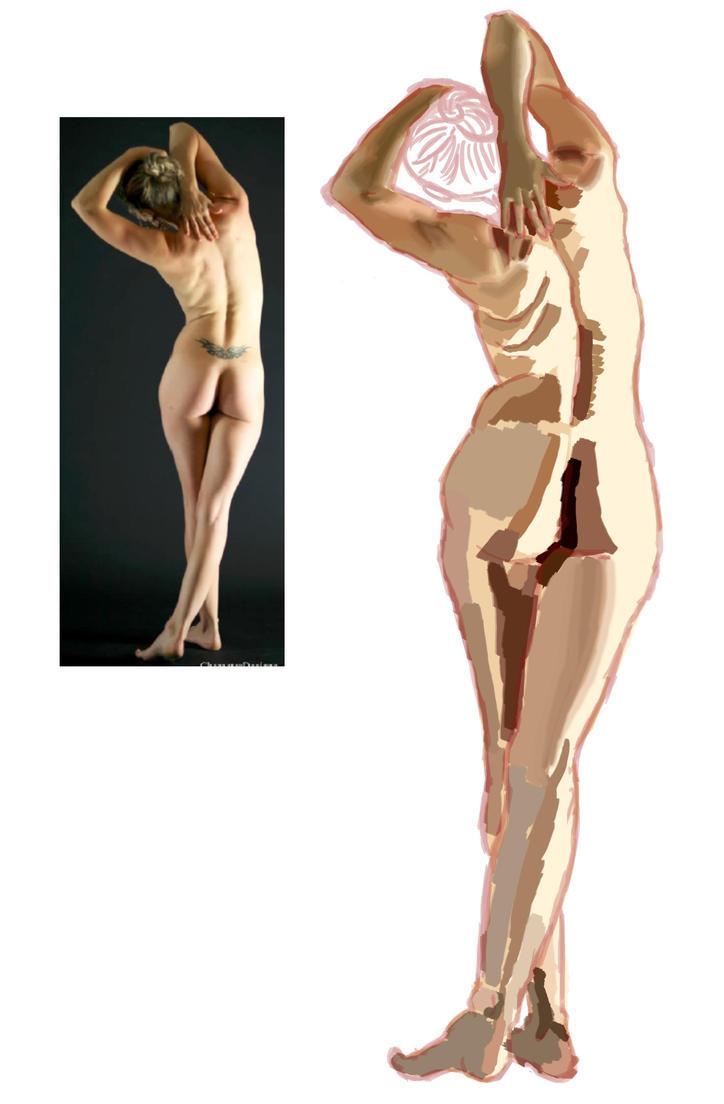 wip Figure digital painting by TamamoMae