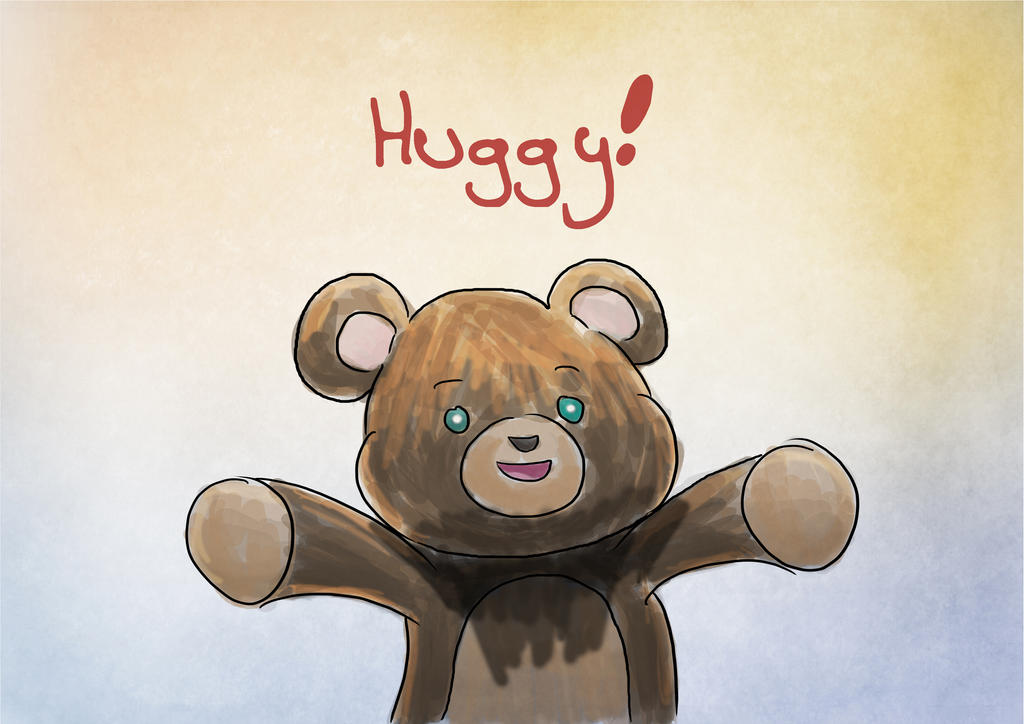 Hug bear by TamamoMae