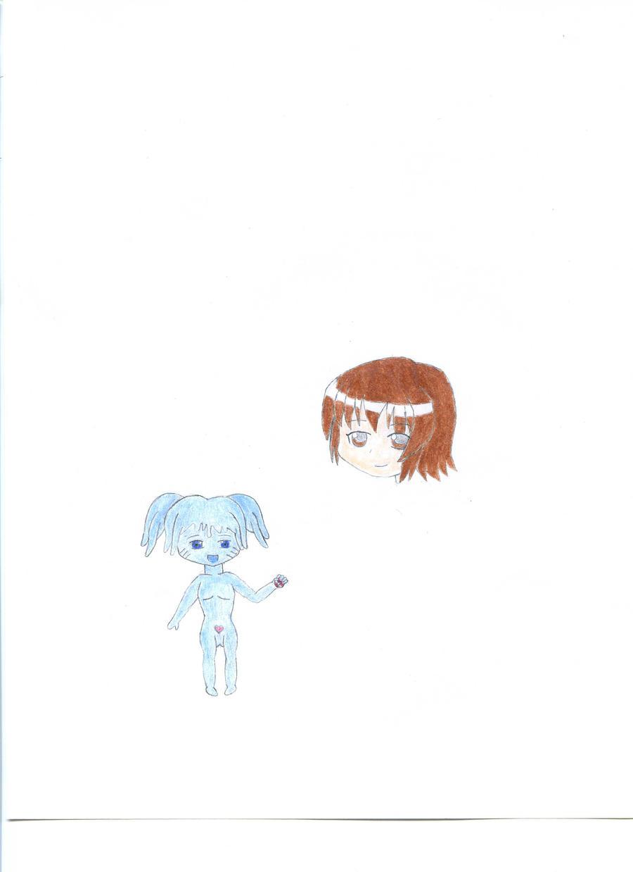Kurumi and Mitsuki by spiralmaestro