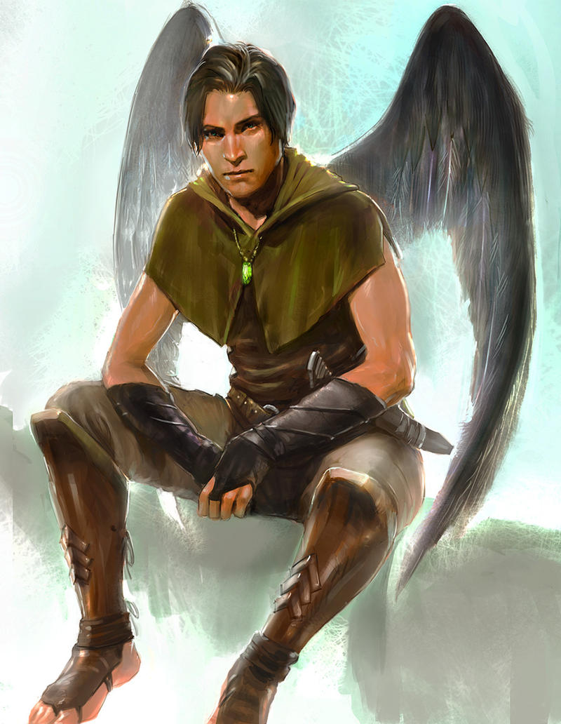 commissioned male angel for P.K. Rivule
