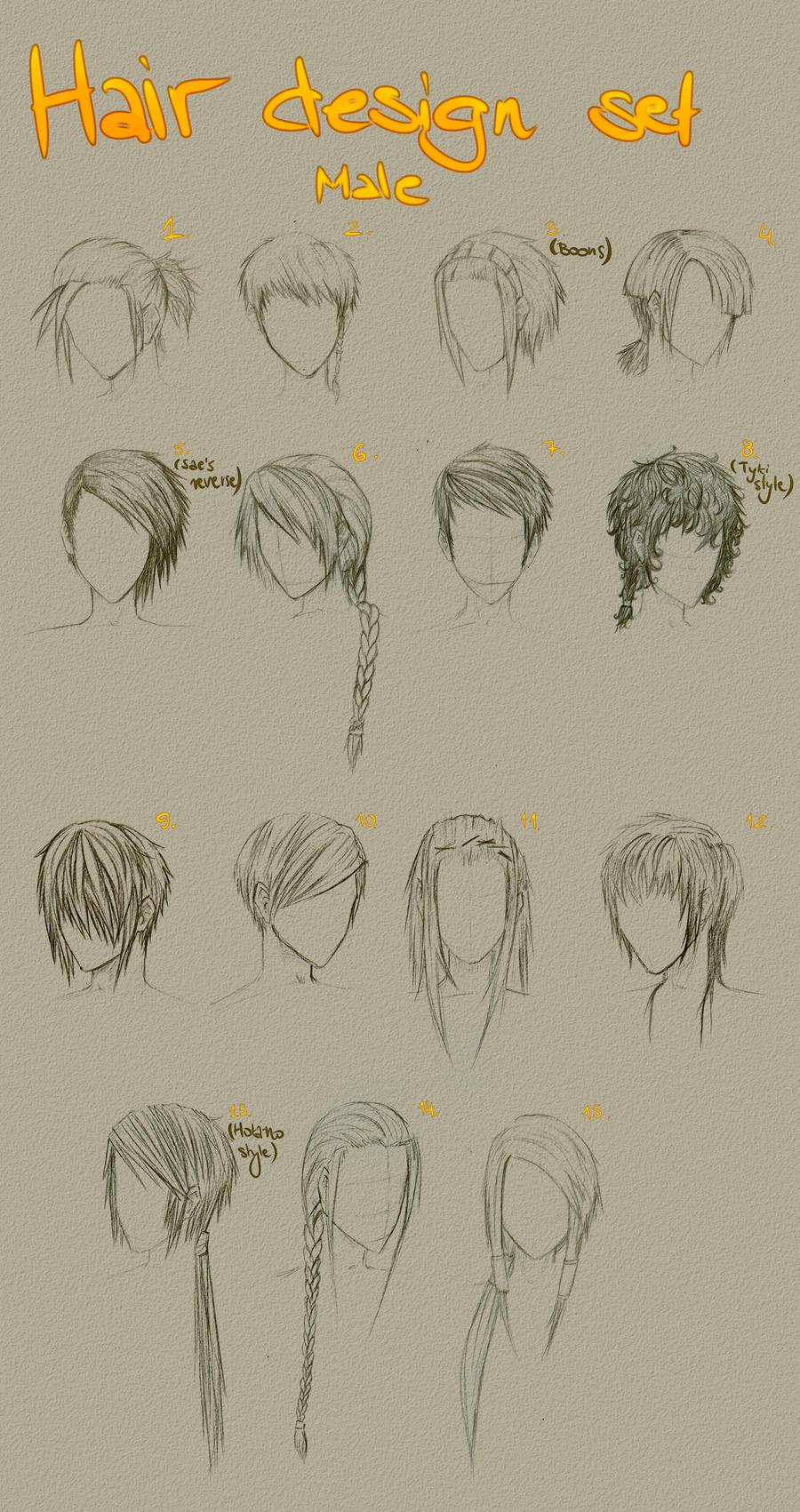 Hair design set 1 by Little-Groove-Girl