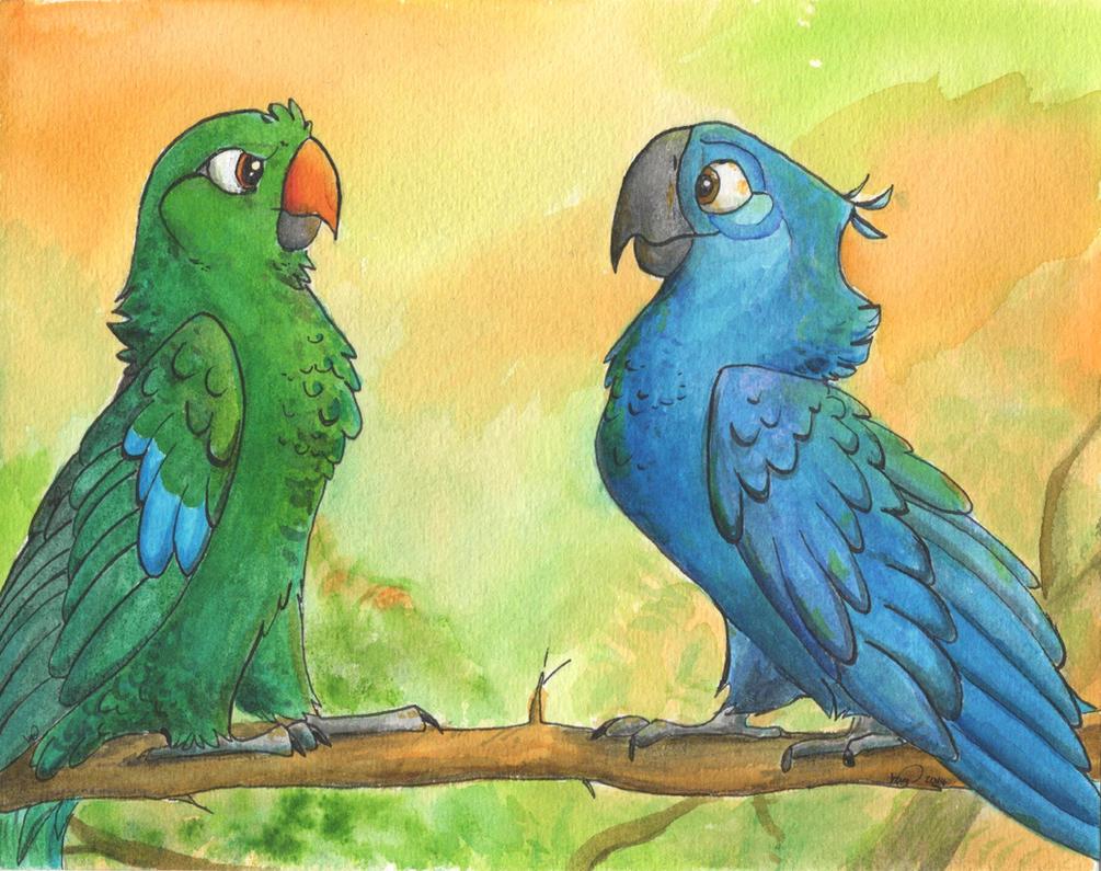 Green and Blu by KestrelRaptor