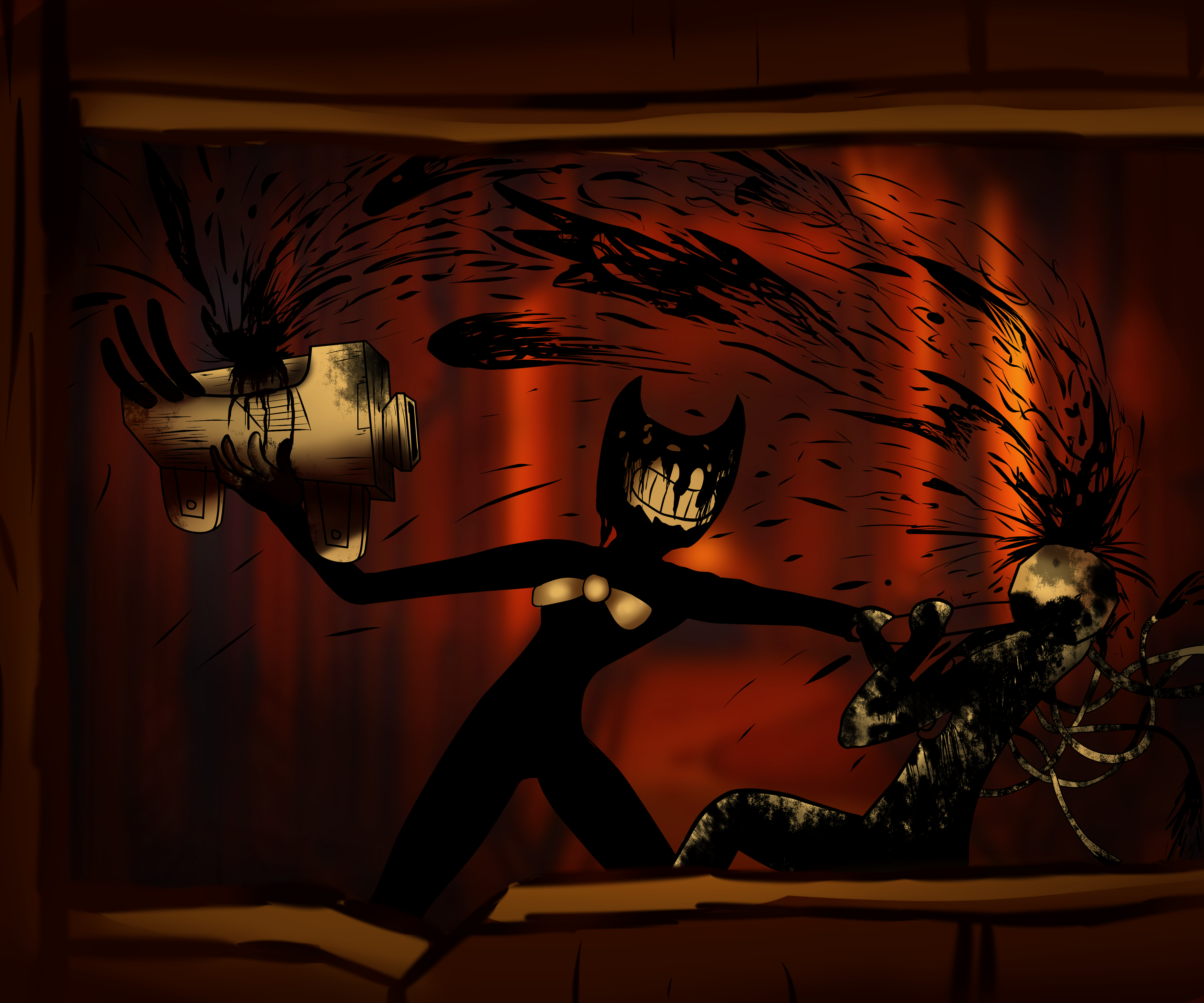 Bendy Vs Projectionist By Monkamoni On DeviantArt