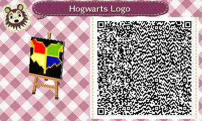 Animal Crossing QR Code: Hogwarts Logo by winxJenny