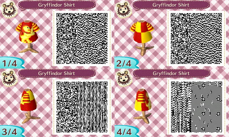 Animal Crossing QR Code: Gryffindor Shirt by winxJenny