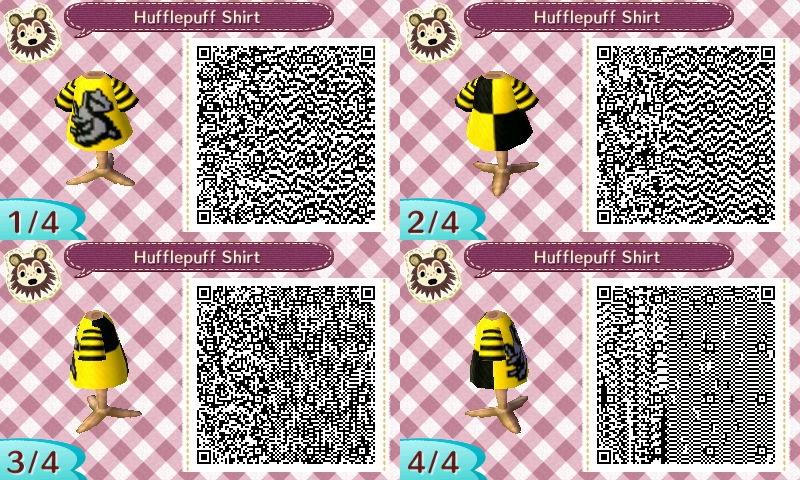 Animal Crossing QR Code: Hufflepuff Shirt by winxJenny