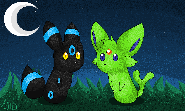 Pokemon Shiny Umbreon And Espeon