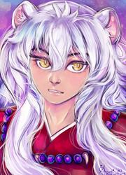 Inuyasha: Classic anime boy facing left