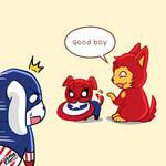 Spiderman Takes Captain America's Shield
