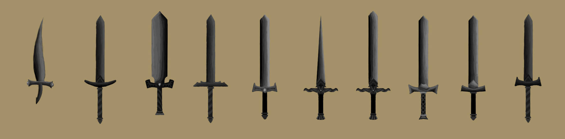 Swords - Concept Art by Abs-olute