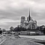 Notre Dame_bw - Paris