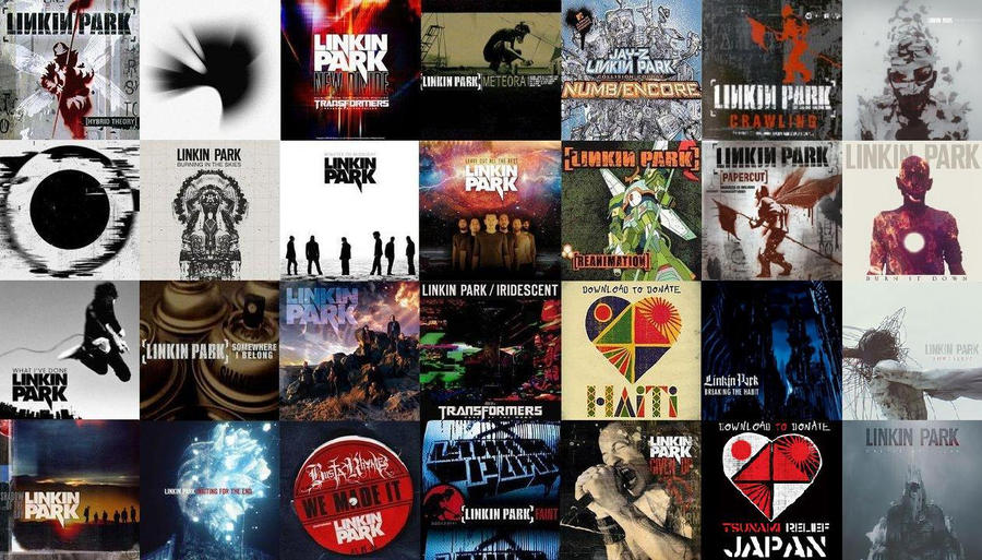 Linkin Park Singles And Albums By Iappeartobespy On Deviantart