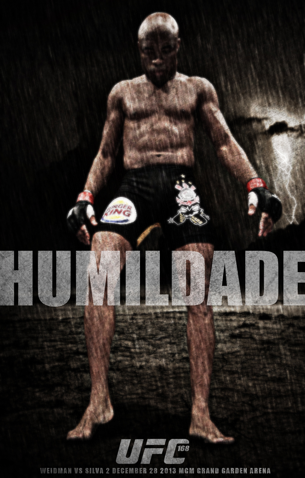 Humildade ufc 168 poster by AronianUfc 168 Poster
