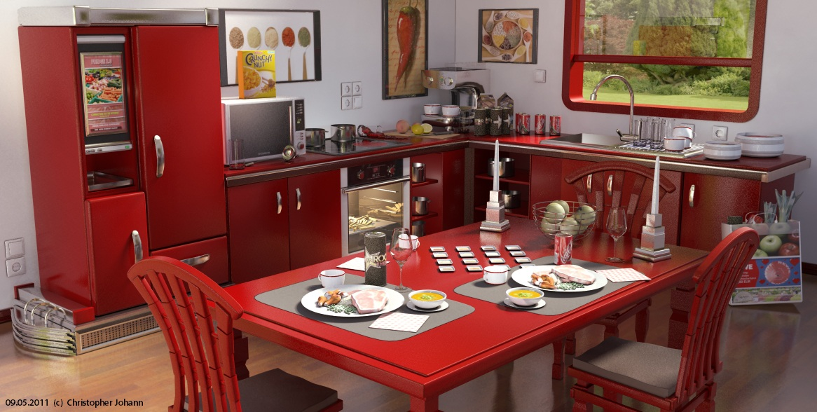 Kitchen attempt 3ds max mray by getfamousdesigns on for Kitchen set 3ds max