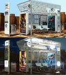3D - Bus Stop - Design by GetFamousDesigns