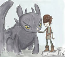 Toothless and Hiccup by tafkase7en