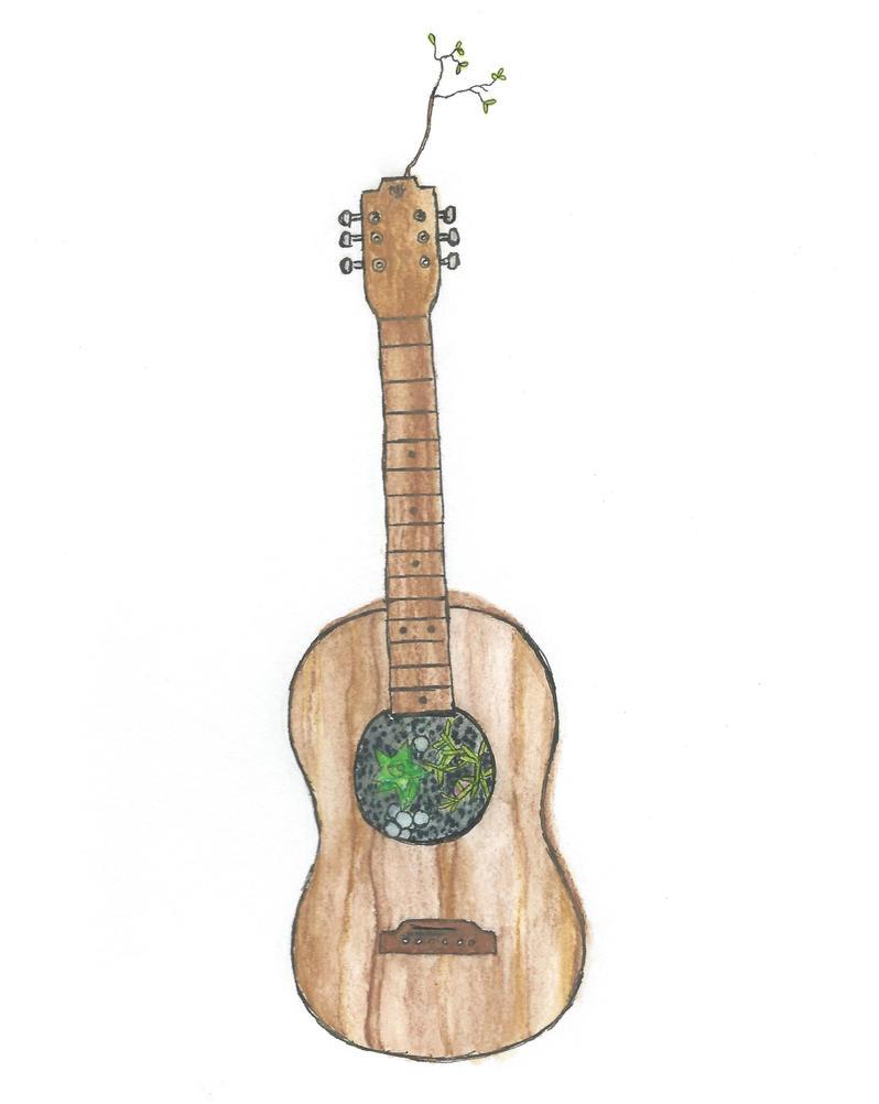 Guitar Garden by shadowdolphin